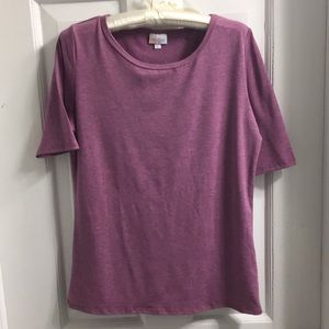 LuLaRoe heathered purple top